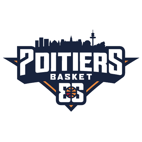 Logo officiel pb86 poitiers basket 86