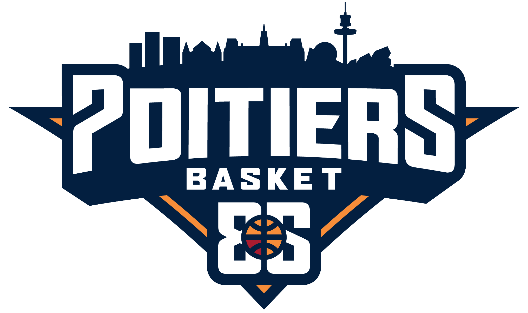 Logo PB86 Poitiers Basket 86 officiel